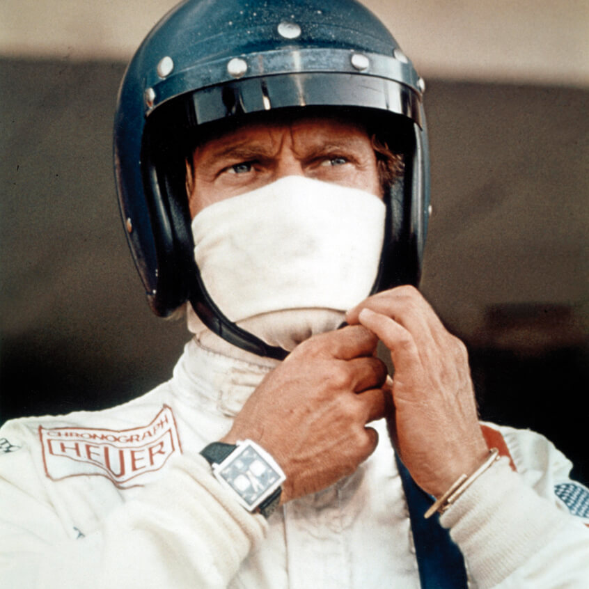 "Steve McQueen in legedary movie ""Le Mans"""