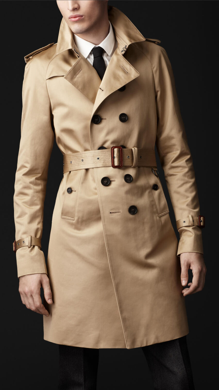 Burberry cotton garbandine trench coat, mid length