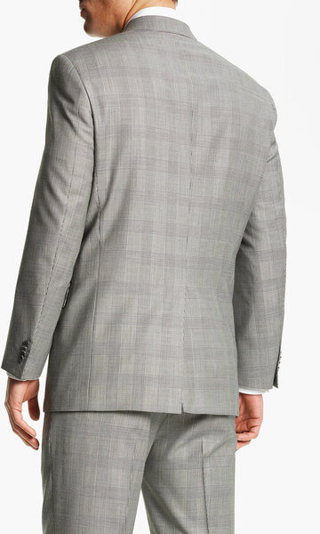 Men's suit with Glen plaid pattern