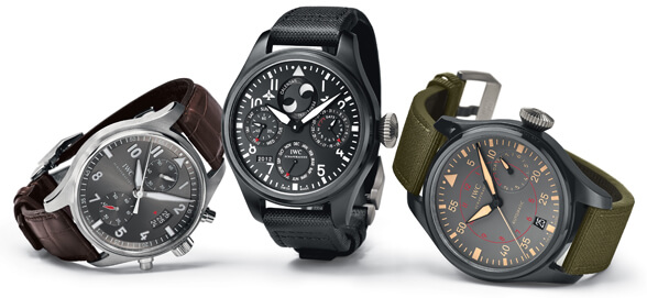 IWC Schaffhausen Spitfire Chronograph, Big Pilot's Watch Perpetual Calendar TOP GUN and Big Pilot's Watch TOP GUN Miramar