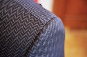 Men's jacket with herringbone pattern