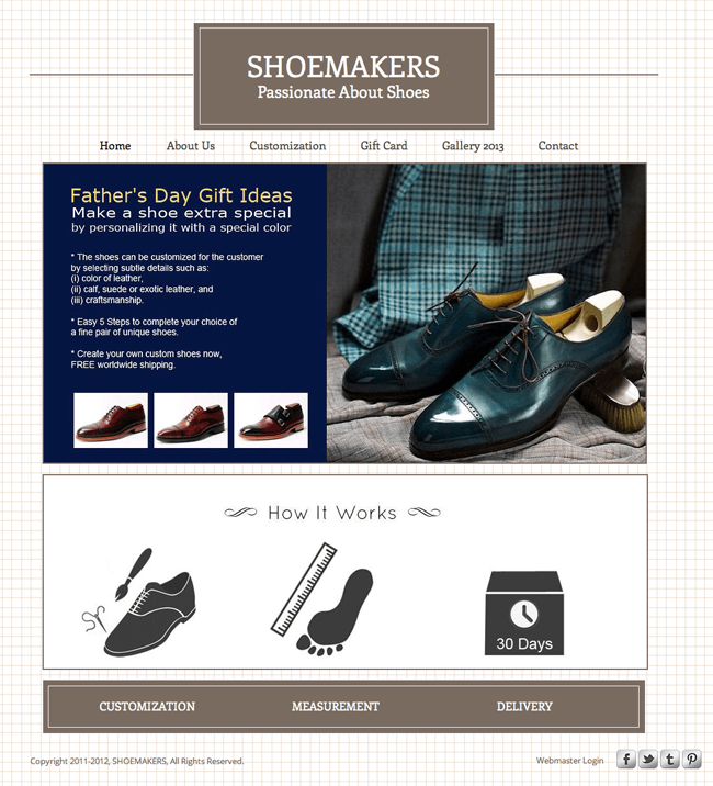 Shoemakers web site