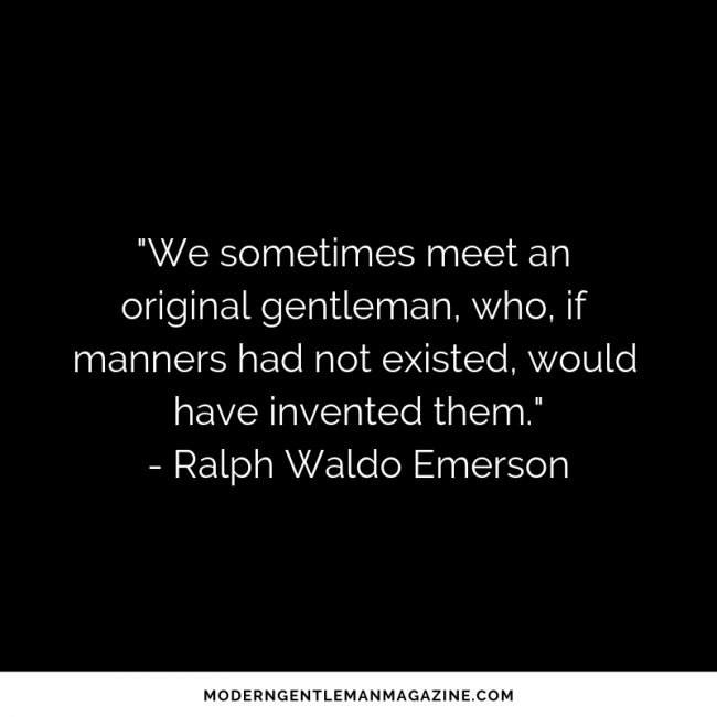 gentleman quote from ralph waldo emerson