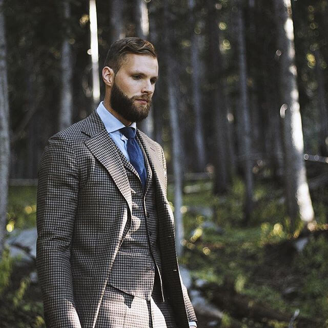 Men's jacket with check pattern