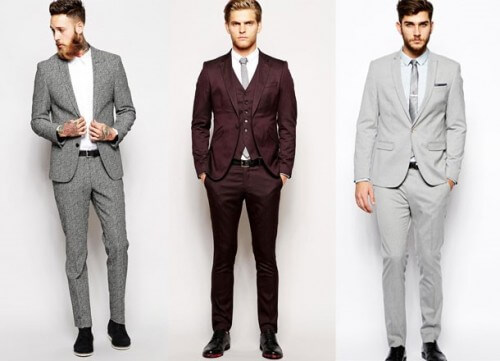 3 men cocktail suits