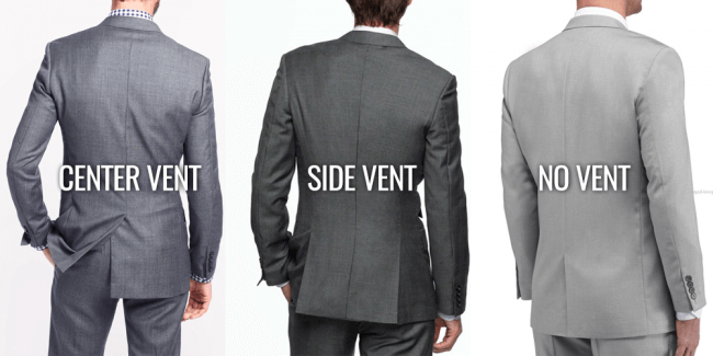 no vent vs center vent vs side vent suits