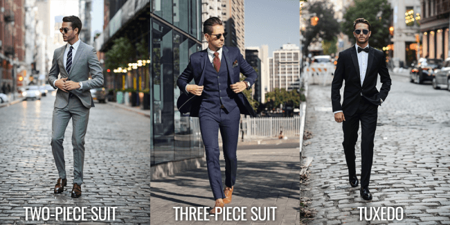 difference between suit and tuxedo